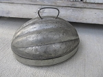 Antique Primitive Early Acorn Shaped Bread Pudding Baking Mold Large Old and Original