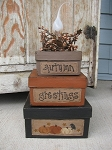 Primitive Autumn Square Stack Box Light