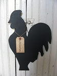 Primitive Farmhouse Wooden Rooster Silhouette