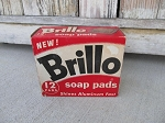 Antique Vintage Brillo Brand Soap Pads Box with Contents