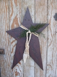 Primitive Country Hand Made Hanging Wooden Star-Color Choices