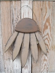 Primitive Hand Made Hanging Tan Colored Wooden Coneflower