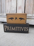 Primitives Set of 2 Hand Painted Crows and Star Stacker Blocks with Color Options
