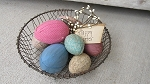 Primitive Hand Wrapped Fabric Easter Egg Bowl Fillers Set of 7