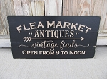 Primitive Vintage Flea Market Hand Painted Pallet Sign with Color Options