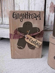 Primitive Country Gingerbread Cookies Tied Hand Painted Vintage Book