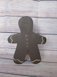 Primitive Chunky Wooden Gingerbread Man