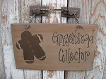 Primitive Country Gingerbread Collector Hand Painted Sign