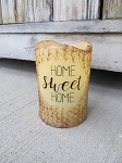 Primitive Home Sweet Home TIMER Pillar Candle