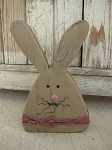 Primitive Country Chunky Wood Bunny Rabbit-Tan