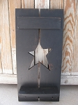 Primitive Country Hand Made Wooden Star Shutter with Shelf and Square Nail Pegs