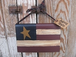 Primitive American Flag Patriotic Americana Hanging Hand Painted Vintage Book