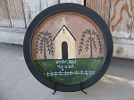 Primitive Personalized Country Church Hand Painted Plate
