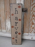 Primitive Harvest and Pumpkins Autumn Fall Hand Painted Wooden Sign