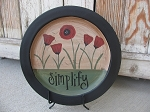 Primitive Field of Poppies Hand Painted Plate