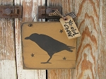 Primitive Ye Old Crow and Stars Hand Painted Small Sign