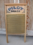 Primitive Antique Vintage Pilot Brass Wash Scrub Board