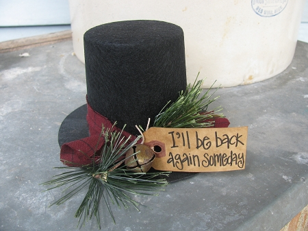 Primitive Black Felt I Ll Be Back Again Someday Frosty S