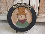 Primitive Country Fall Autumn Scarecrow Hand Painted Decorative Plate