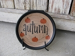 Primitive Fall Mini Word Hand Painted Customizable Plate