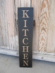 Primitive Farmhouse Kitchen Hand Painted Vertical Sign with Color Options