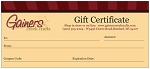 Gainers Creek Gift Certificate