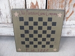 Primitive Olde Plantation Game Company Checker Game Board