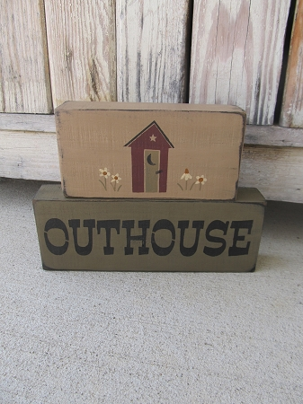 Primitive Country Bathroom Outhouse Stacker Blocks Set of 2 on craft wood designs, craft shed designs, craft room designs, craft bar designs, craft boat designs, craft home designs, craft store designs, craft office designs,