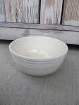 Antique Vintage Sevilla Pottery Stoneware White Oven Bake Mixing Bowl