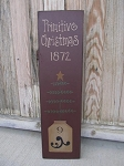 Primitive Colonial Primitive Christmas Feather Tree and Stoneware Crock Hand Painted Sign