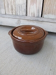 Antique Red Wing Stoneware Brown Covered Baker Casserole Quart Size