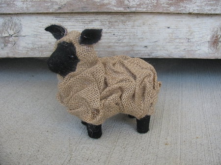 Primitive Small Burlap Sheep