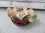 Primitive Rustic Hand Made Snowflake Bowl Fillers Set of 3 with Decor Options