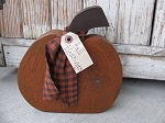 Primitive Reversible Chunky Wood Pumpkin with Star
