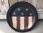 Primitive Americana Stars-n-Stripes Hand Painted Plate