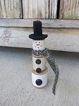 Primitive Antique Vintage Spooly the Snowman
