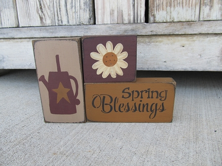 Each New Day is a Blessing Primitive Rustic Wood Sign