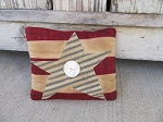 Primitive Americana Star and Stripes Cupboard Pillow Tuck