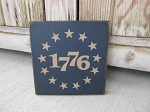 Primitive Hand Painted 1776 Betsy Ross Stars 8