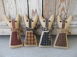 Primitive Country Homespun Kitty-Choice of Colors