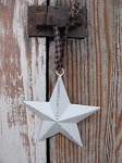 Primitive 4 Inch Cream Barn Star with Hanger