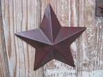 Primitive 6 Inch Burgundy Barn Star