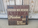 Primitive America USA Typography Hand Stenciled 12