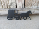 Primitive Colonial Amish Buggy Wooden Silhouette