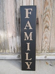 Primitive Family Hand Painted Vertical Sign with Color Options