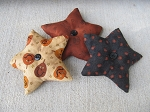 Primitive Halloween Star Bowl Fillers Set of 3