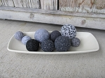 Farmhouse Primitive Light Grey Rectangle Bowl Filler Box Tray