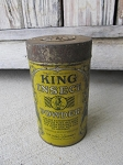 Antique King Insect Powder Can Rockford Illinois Garden Shed Decor