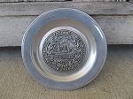 Vintage Antique Wilton Seal of the State of New Hampshire 1776 Pewter 6