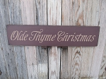 Primitive Olde Thyme Christmas Hand Painted Sign